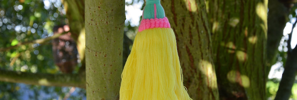 Acrylic Tassel - Yellow