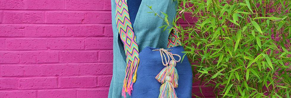 Wayuu Bag - Plain Blue