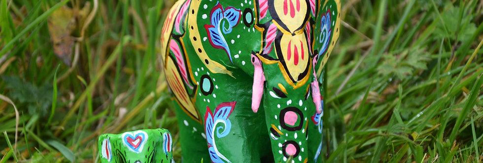 Mowgs Paper Mache Elephants