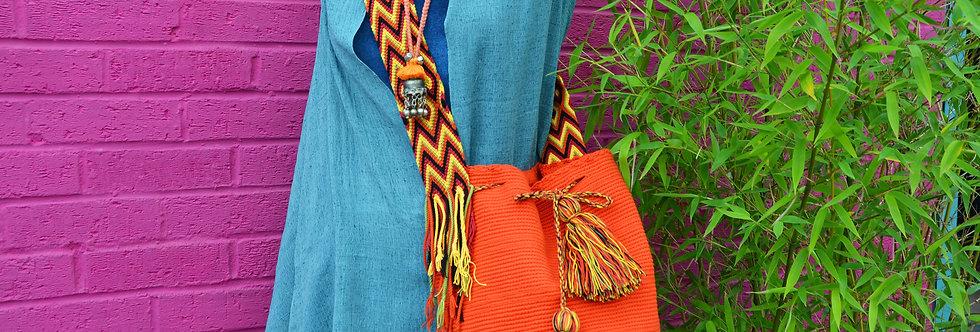 Wayuu Bag - Plain Orange