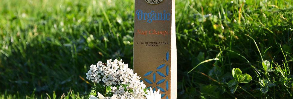 Organic Goodness 12 Incense Cones & Earthen Burner - Nag Champa