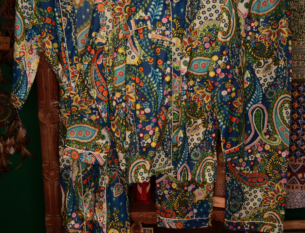 Paisley Pyjama Set - Blue