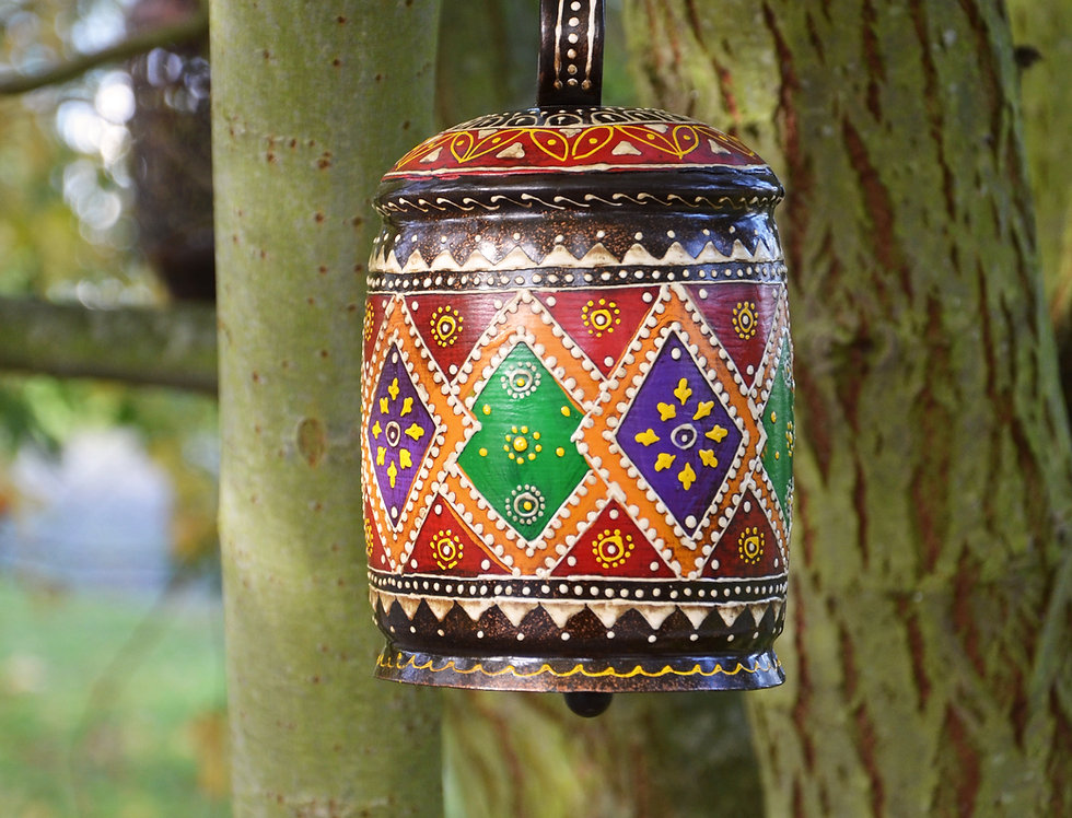 Small Hand Painted Iron Bell
