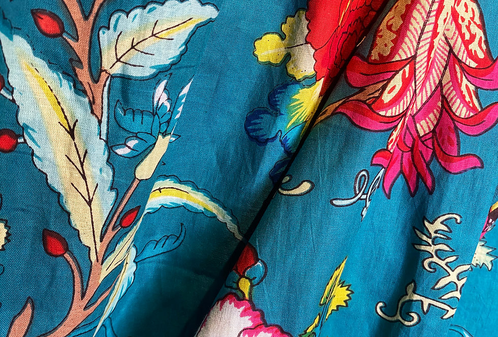 Handmade Indian Pjs - Blue Floral