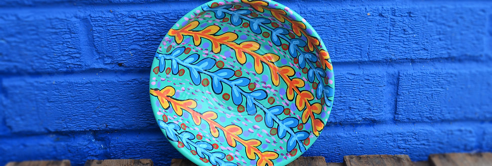 Painted Bowl - Turquoise