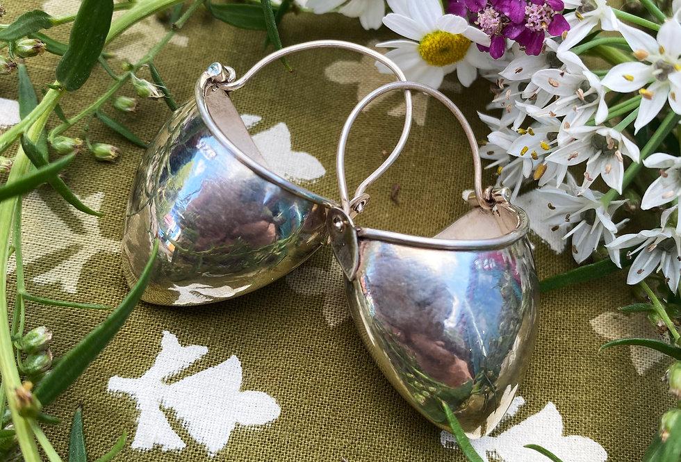 Silver Bucket Earrings