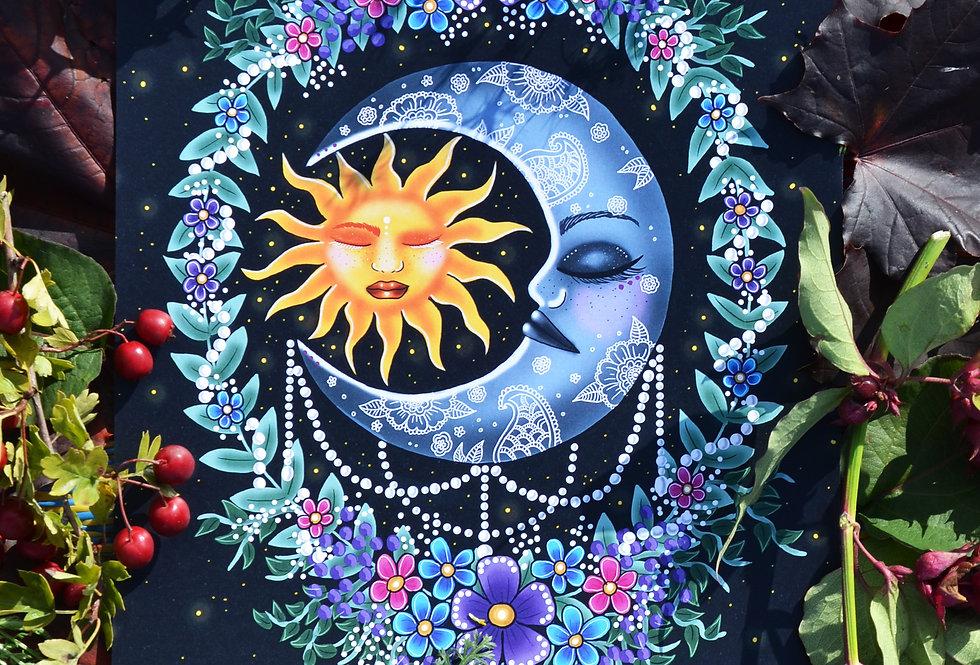 Celestial Moon Art Print