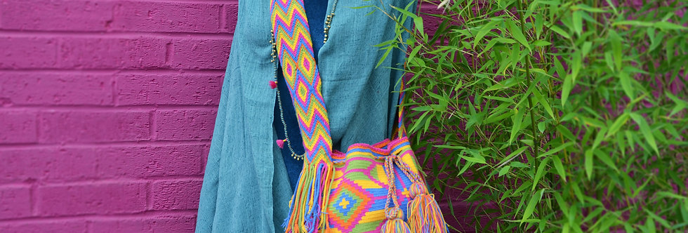 Wayuu Bag - Pink/Blue/Green