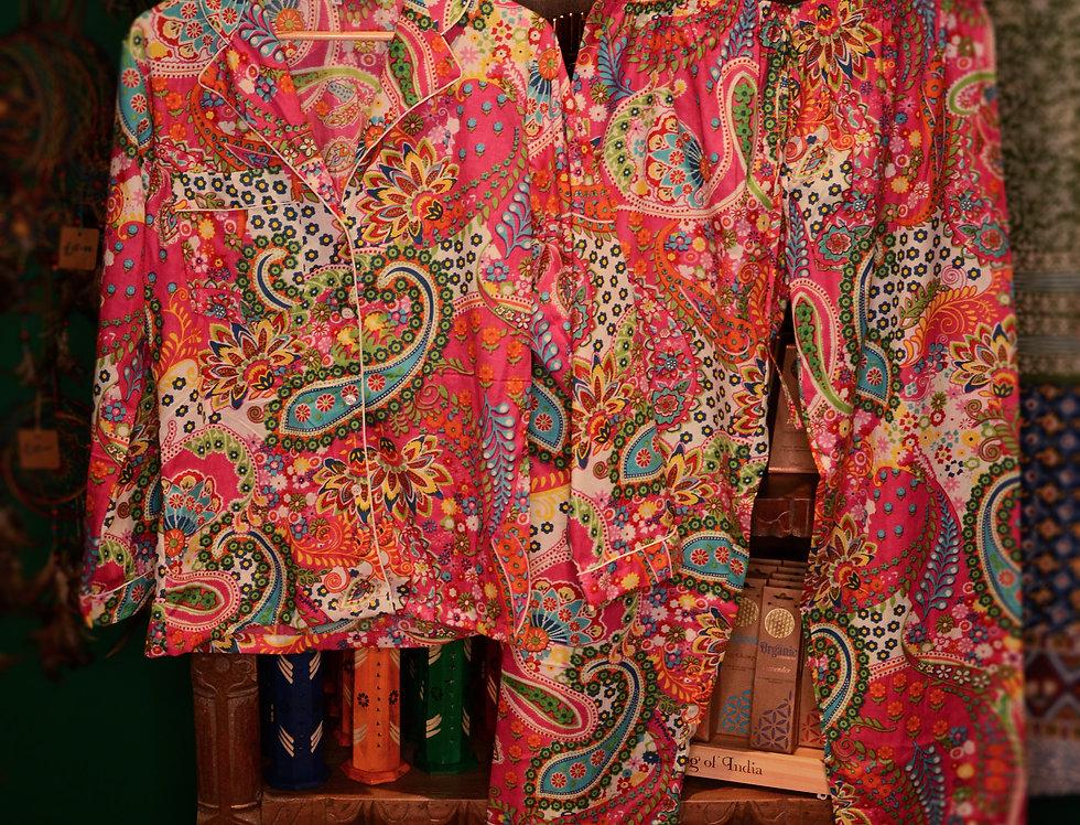 Paisley Pyjama Set - Pink