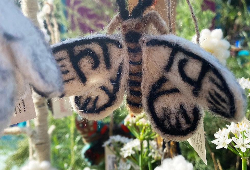 Handmade felt butterflies