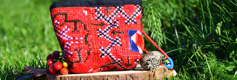 Handmade Indian Coin Purse - Red