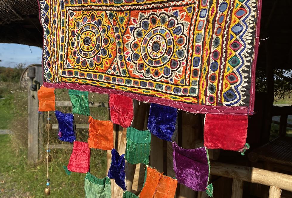 Indian Toran - with Velvet Squares