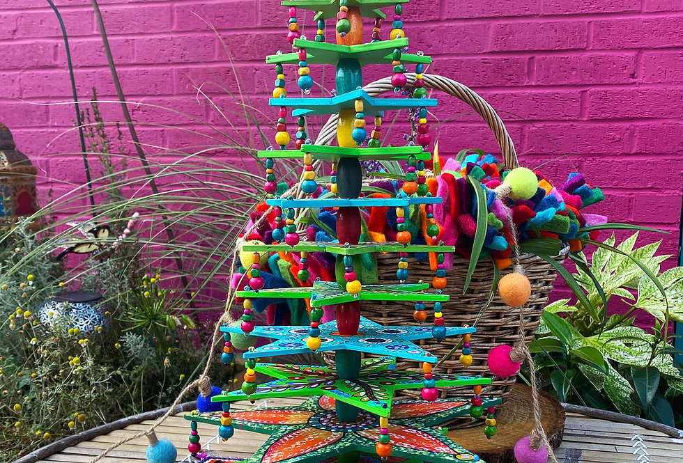 Handpainted Wooden Christmas Tree