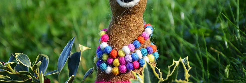 Felt Llama Christmas Tree Topper