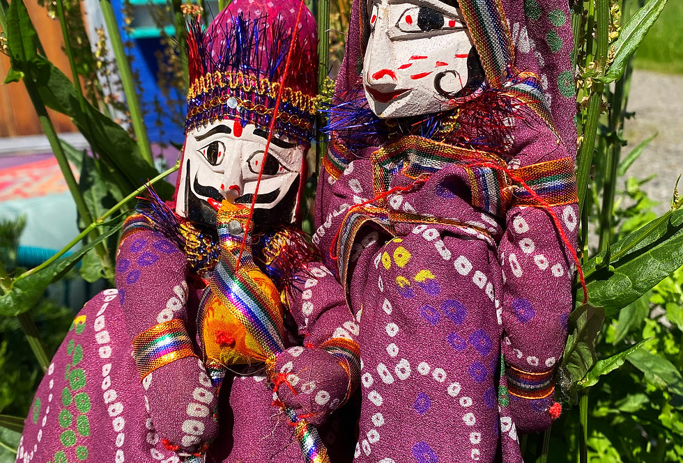 Indian Puppets - Pair