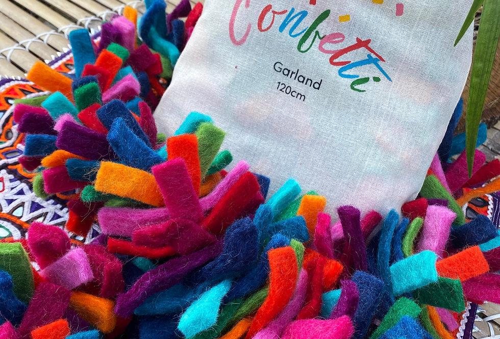 Handmade Felt Confetti Garland - Tinsel