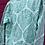 Thumbnail: Kids Indian Pjs - Turquoise/white