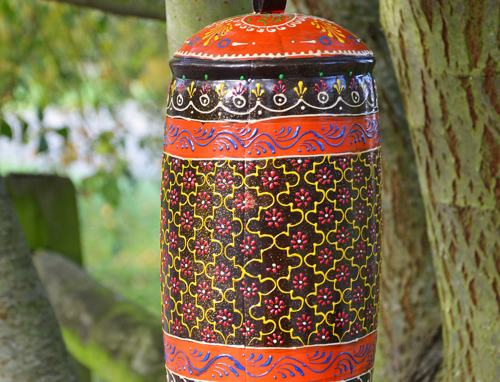 Large Hand Painted Iron Bell