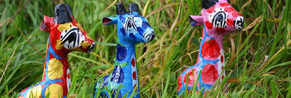 Mowgs Paper Mache Giraffes