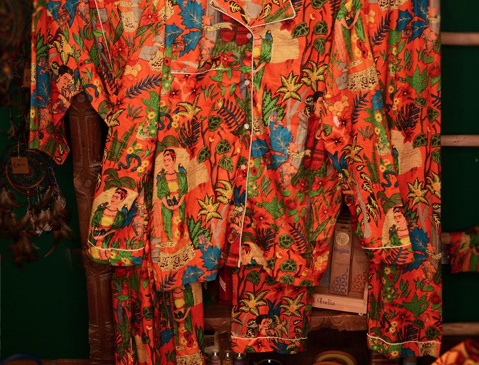 Frida Pyjama Set - Orange
