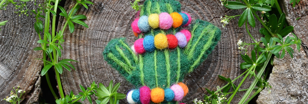 Felt Christmas Cactus Hanging