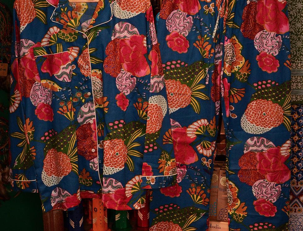 Floral Pyjama Set - Blue