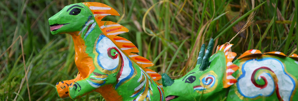 Mowgs Paper Mache Dinosaurs