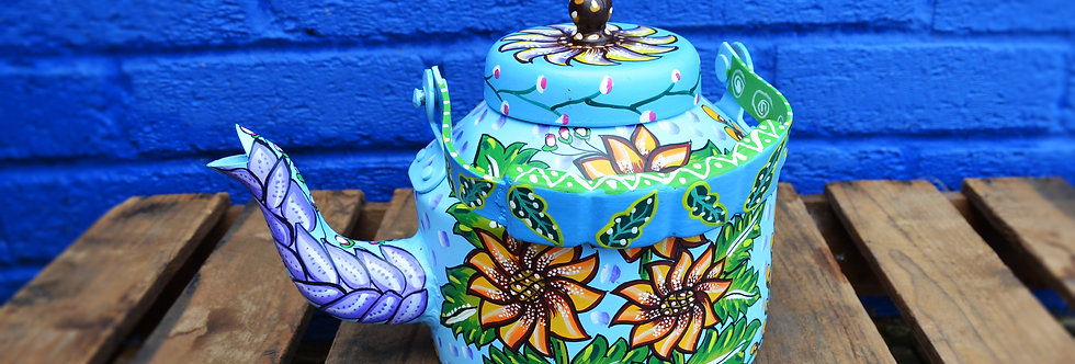 Painted Kettle - Blue