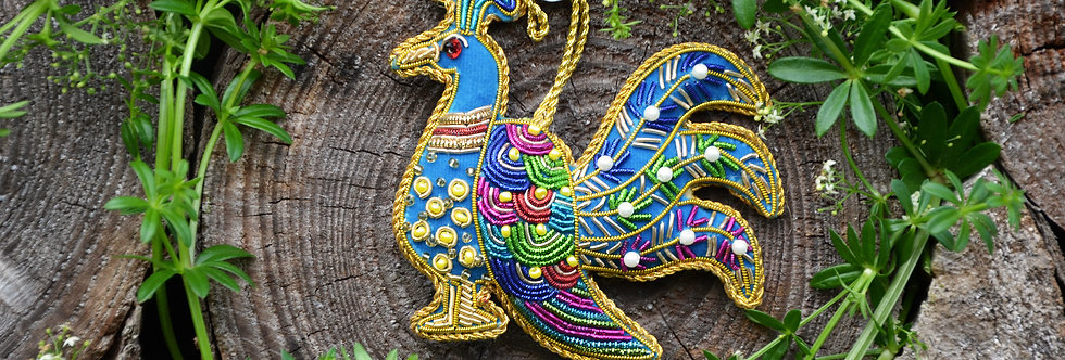 Gold Peacock Hanging