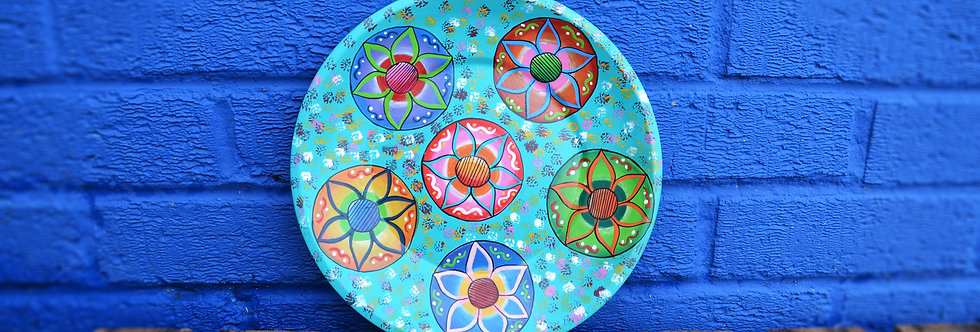 Painted Plates - Turquoise