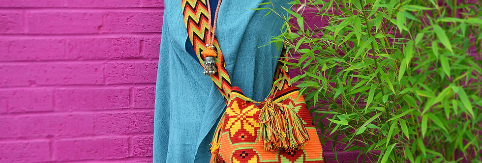 Wayuu Bag - Orange/Red