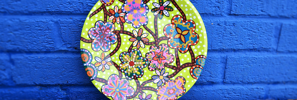 Painted Plates - Lime Yellow