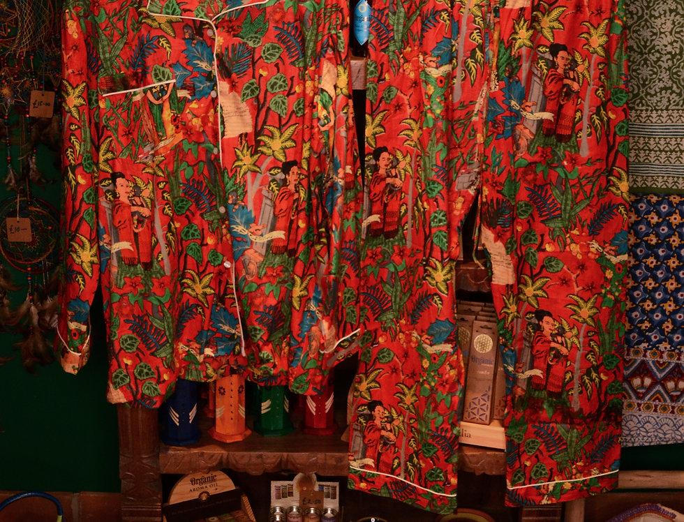 Frida Pyjama Set - Red