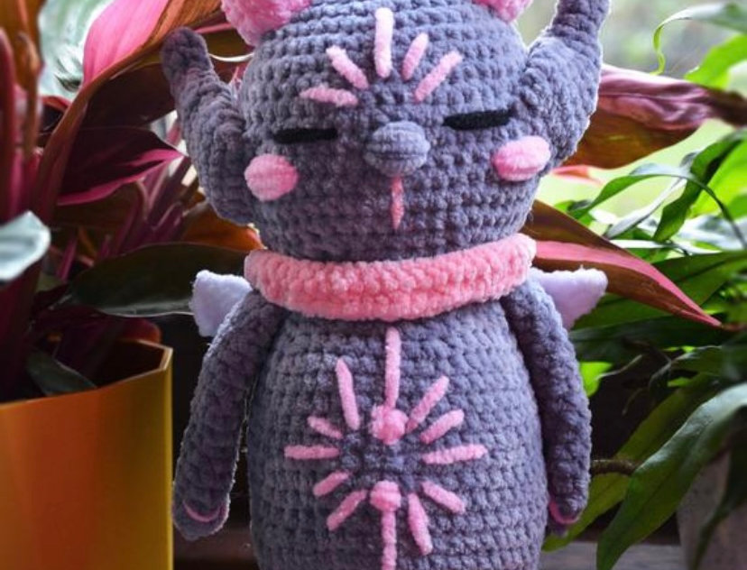 Crochet plush gremlin