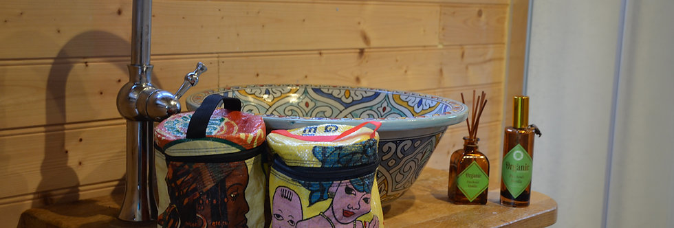 Recycled Rice Sack Wash Bag