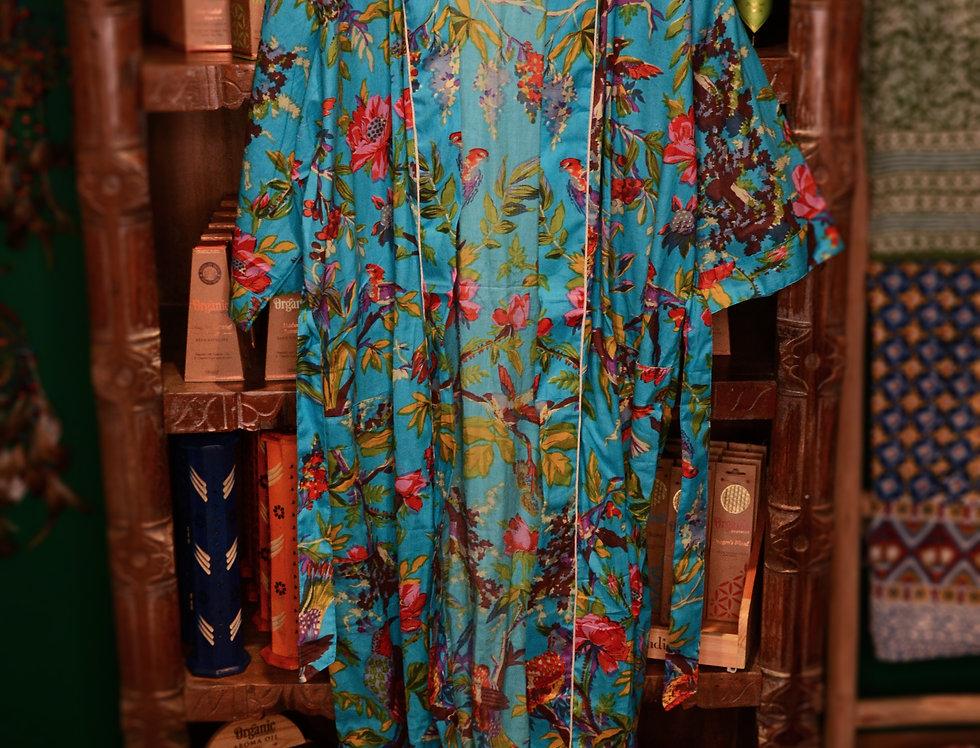Bird Robe - Turquoise