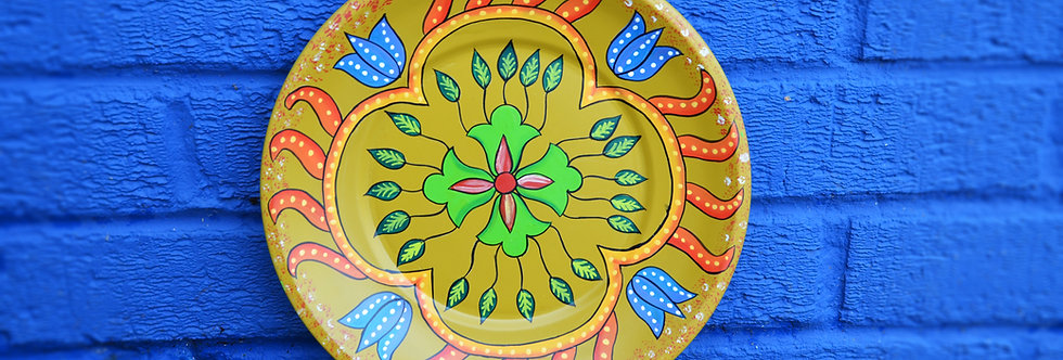 Painted Plates - Mustard
