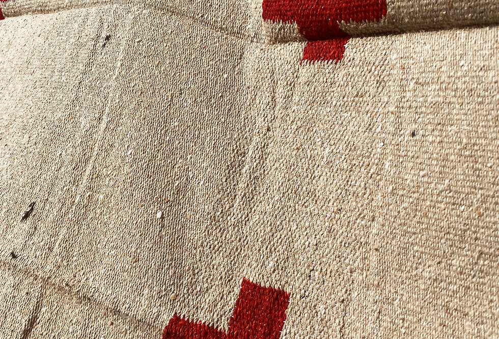 Positive Vibrations Blanket - Cream/Red