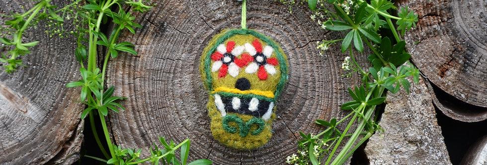 Handmade Sugar Skulls (Set of 5) Day of the Dead Hanging Decoration