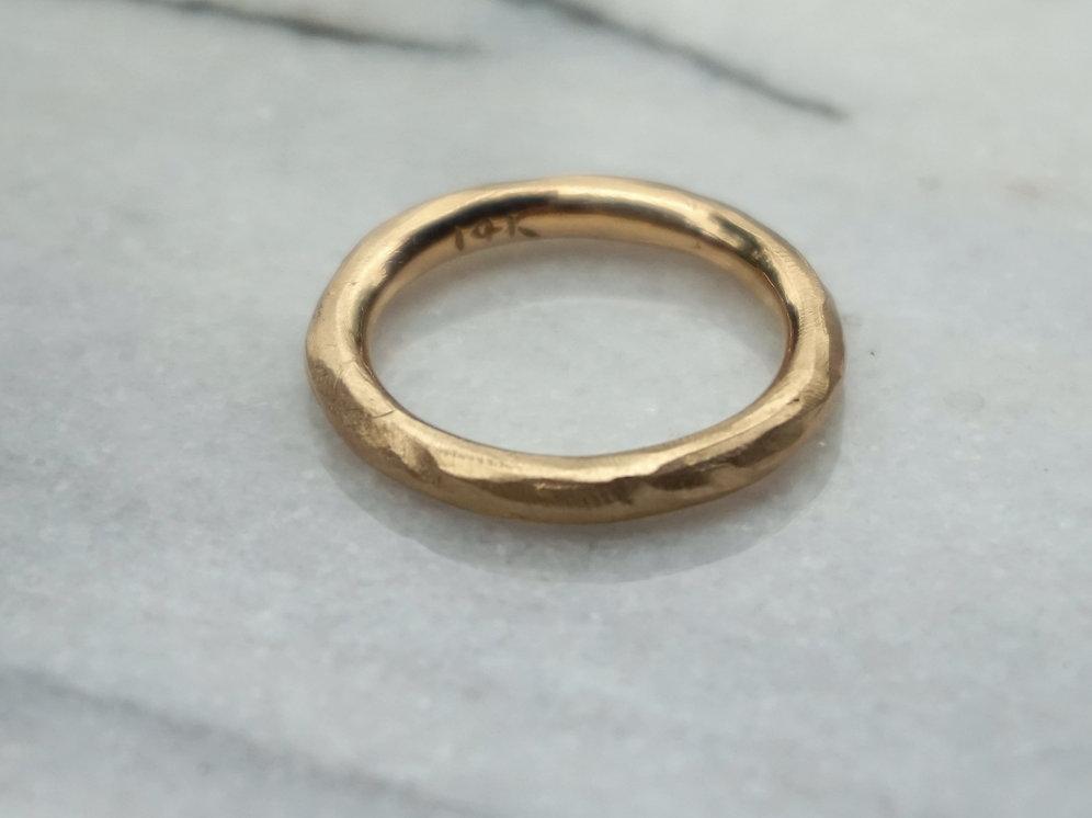 047892a8f6615 Men's heavy rustic 14k yellow gold wedding band   sheenajewellery2