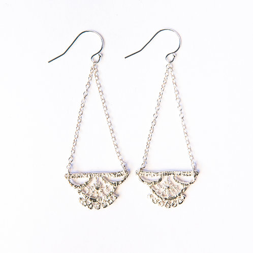 Lily lace earrings in sterling silver