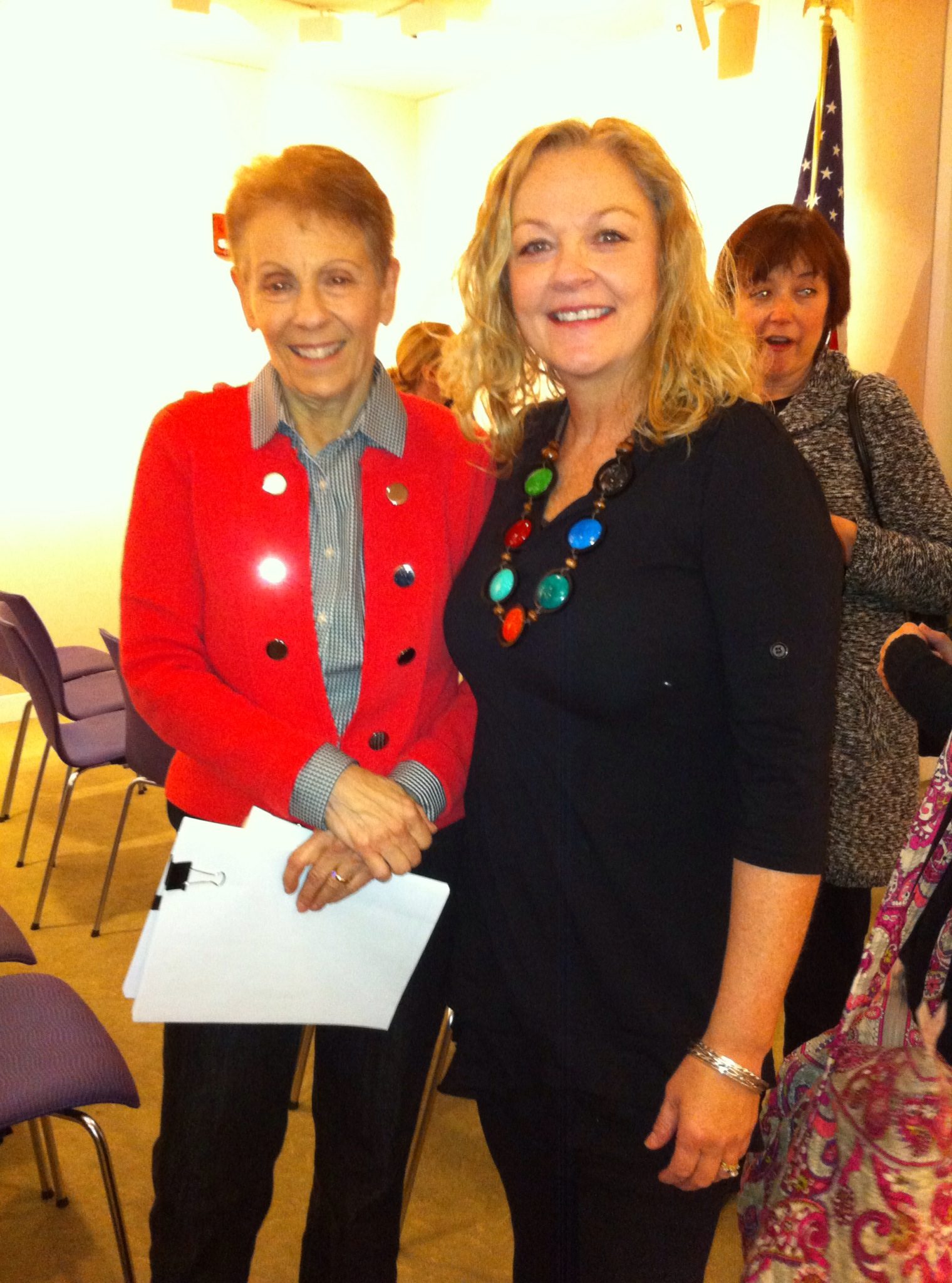 With Prof. Nina Greenwald