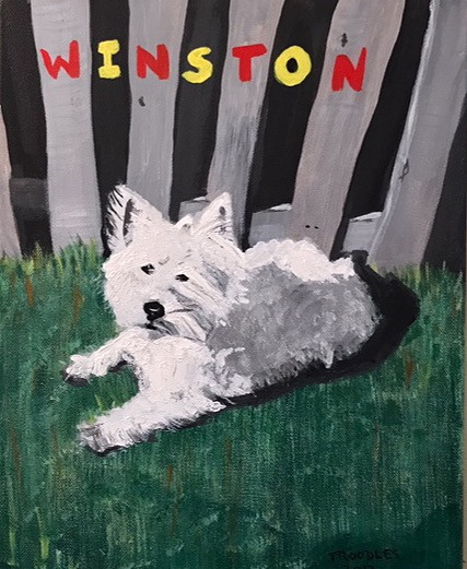 Winston, acrylic on canvas