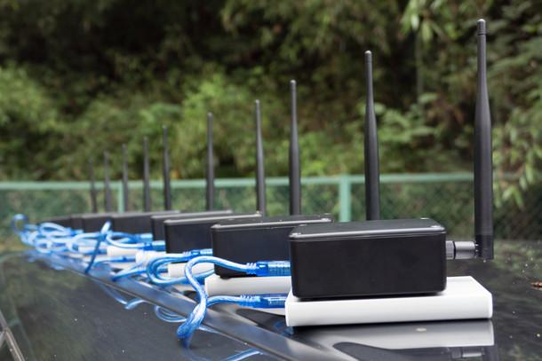 拓殖大学構内にてLoRaWAN™電波調査を行いました