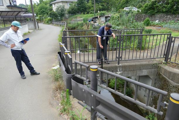 めじろ台および堀之内周辺にて水位センサー設置の調査を行いました