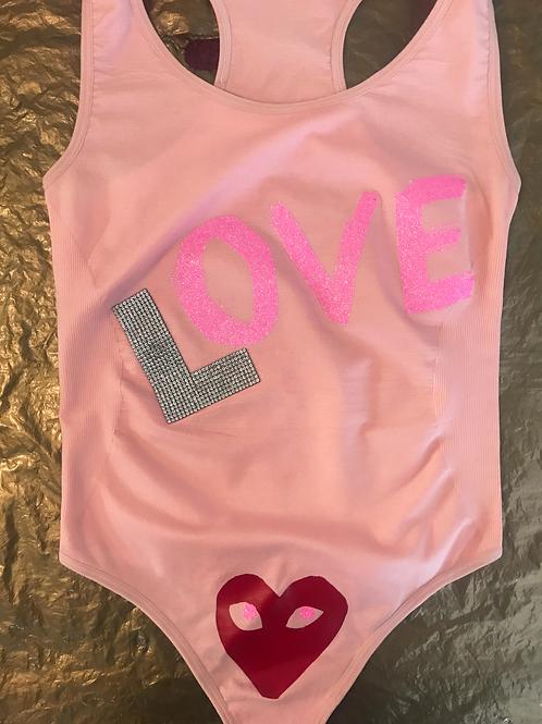CUSTOM LOVE ❤️❤️❤️ RHINESTONE,PINK,VALENTINE GOLDDIMES OUTFIT!!!
