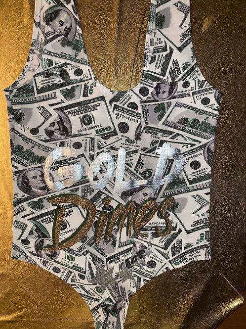 💰💰💰 CUSTOM MONEY BAG #GOLDDIMESOUT FIT!!!