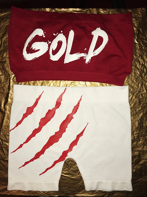 GOLDDIMES CUSTOM TWO PIECE SHORTS & TUBE-TOP!!!