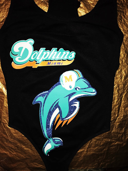 MIAMI DOLPHINS CUSTOM GOLDDIMES OUTFIT!!!