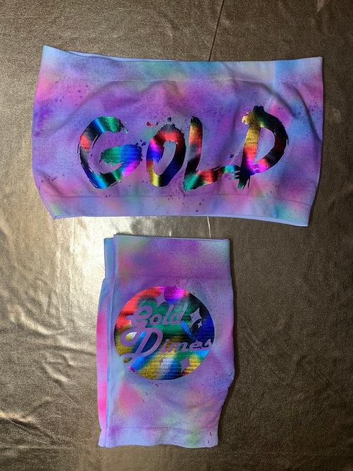 💜💛💚 TIE DYE CUSTOM 2 PIECE GOLDDIMES OUTFIT!!!